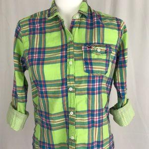 Hollister Tops - Hollister long sleeve cotton button up, plaid, XS
